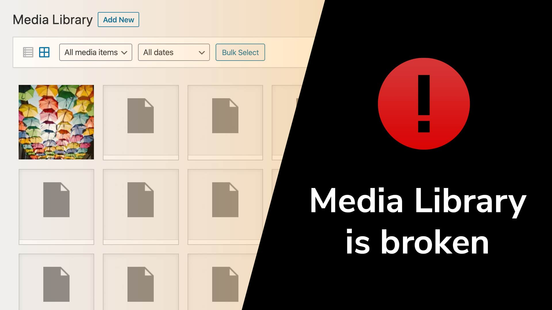 Media library in WordPress is broken