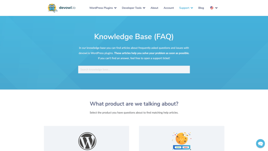 Knowledge base at the new devowl.io (2021)