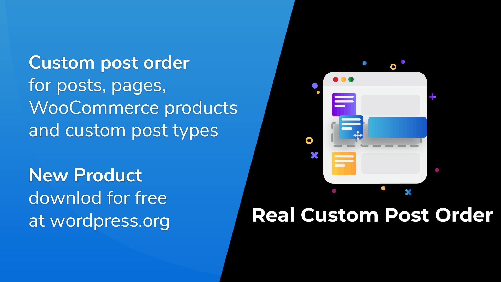 Real Custom Post Order Version 1.0