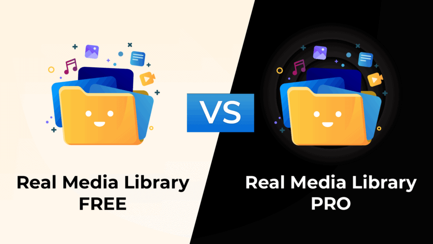 Real Media Library PRO vs Free