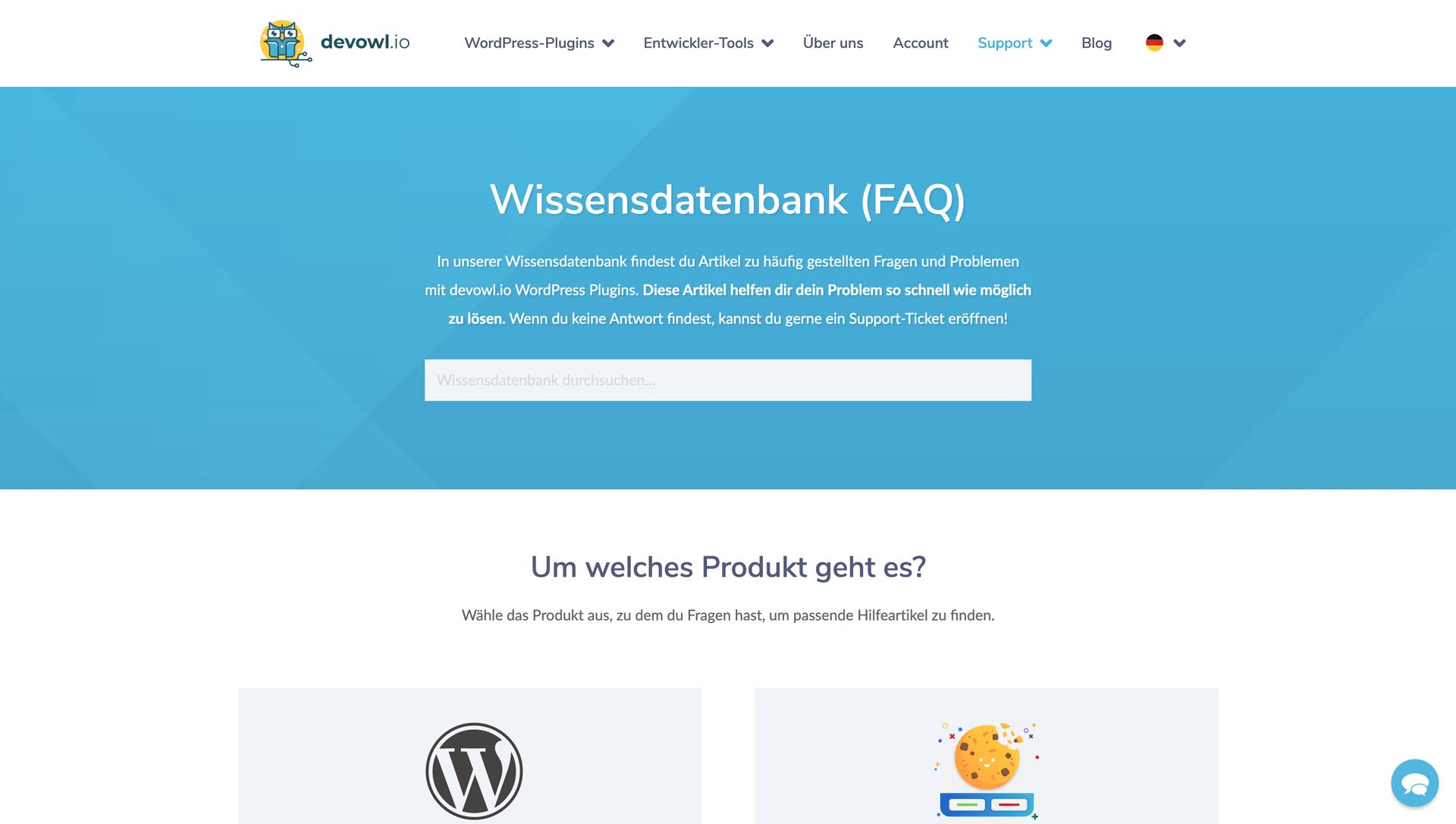 Wissensdatenbank auf dem neuen devowl.io (2021)