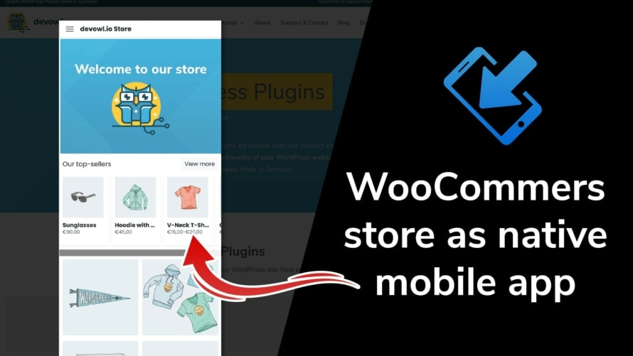 WooCommerce store as native mobile app