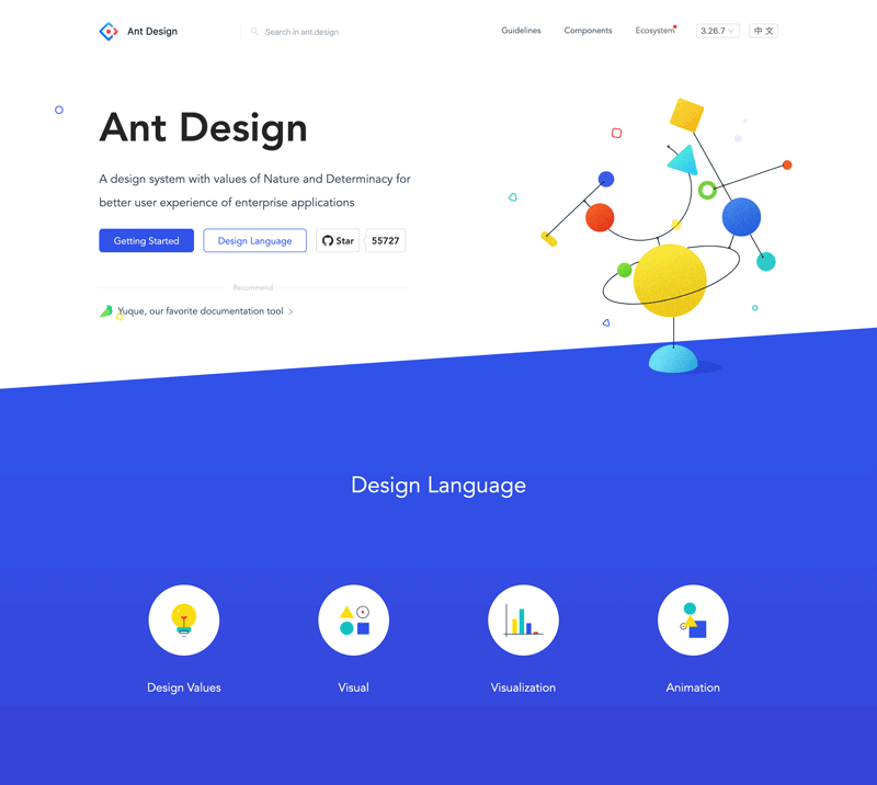 Ant Design website screenshot