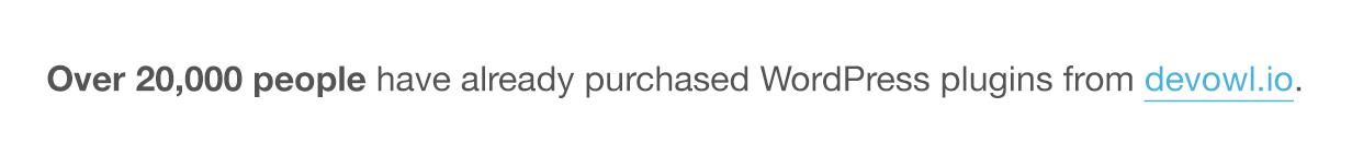 """Mais de 15.000 pessoas </strong> já compraram plug-ins WordPress de devowl.io."""" /><br />   </a></p> <p>  <img src="""