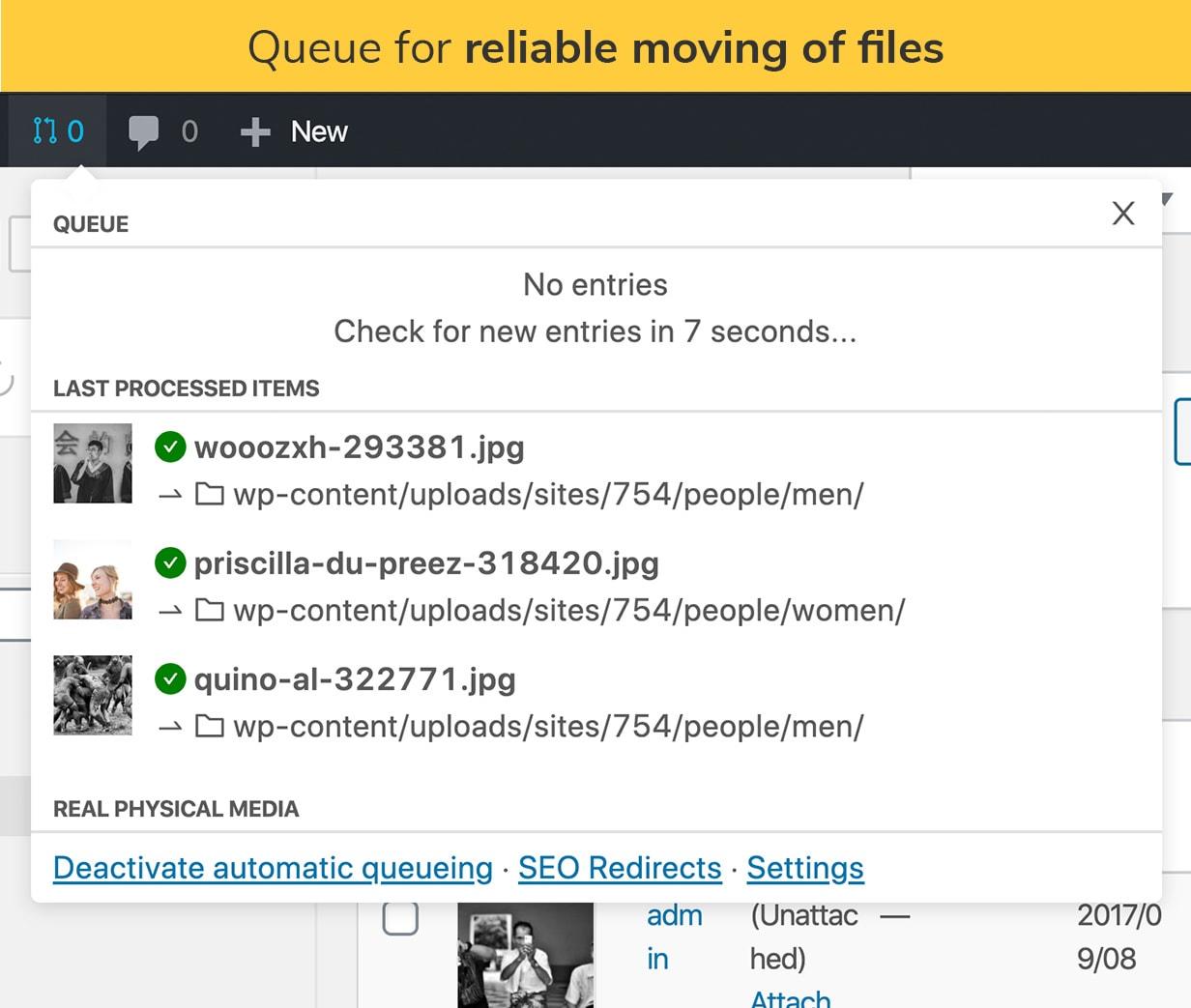 Fila para movimentação confiável de arquivos