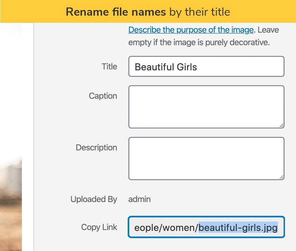 Renomear nomes de arquivos por seus títulos