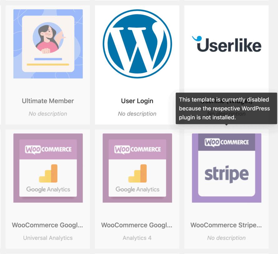 Cookie Vorlage für spezifisches WordPress Plugin