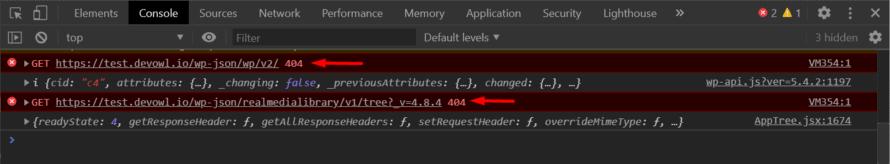 WordPress REST API ist nicht erreichbar: Erkannt in der Browser-Konsole